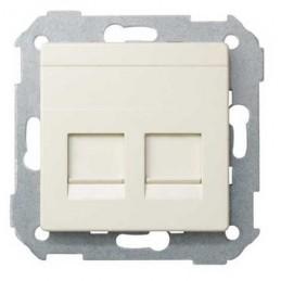 Tecla para 2 conectores AMP ancha marfil Serie 82 Simon 82006-31