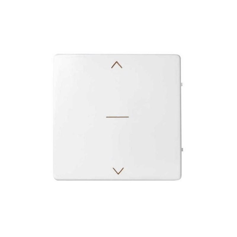Tecla interruptor persiana ancha blanca Serie 82 Simon 82033-30