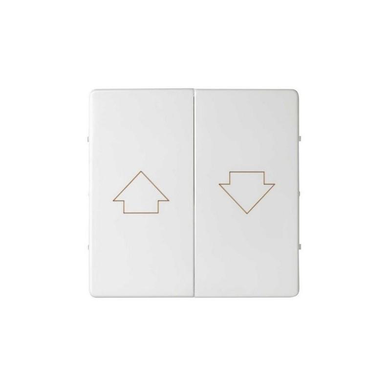 Tecla grupo 2 pulsadores persiana ancha blanca Serie 82 Simon 82028-30