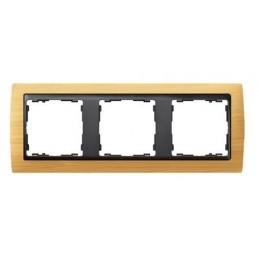 Marco 3 elementos pino zocalo grafito Serie 82 Simon 82835-69