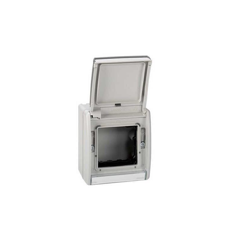 Caja estanca Simon 44 Aqua con tapa articulada IP55 para mecanismos Simon 27