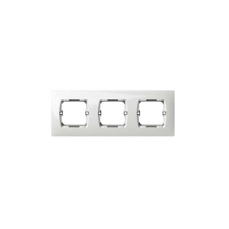 Marco 3 elementos blanco Simon 27630-65