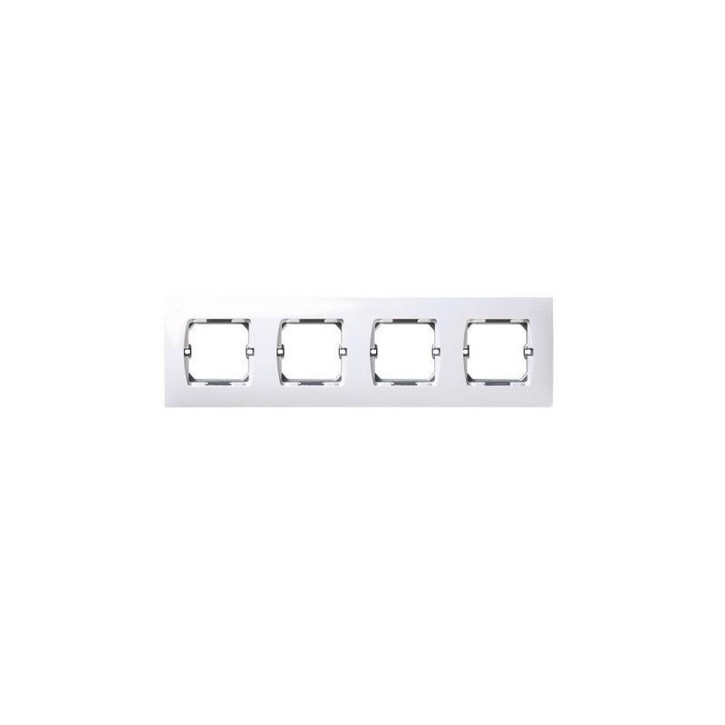Marco 4 elementos blanco Simon 27640-65