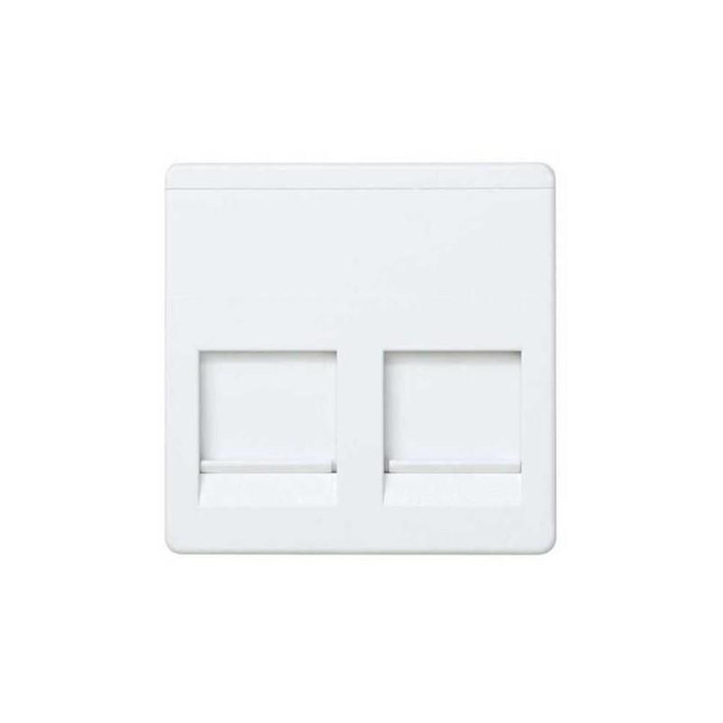 Tecla para 2 conectores AMP ancha blanca Simon 27486-35