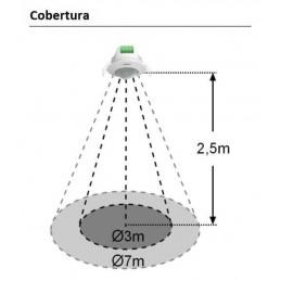 Detector movimiento DM TEC 004 techo 360º 230V 6 metros Dinuy