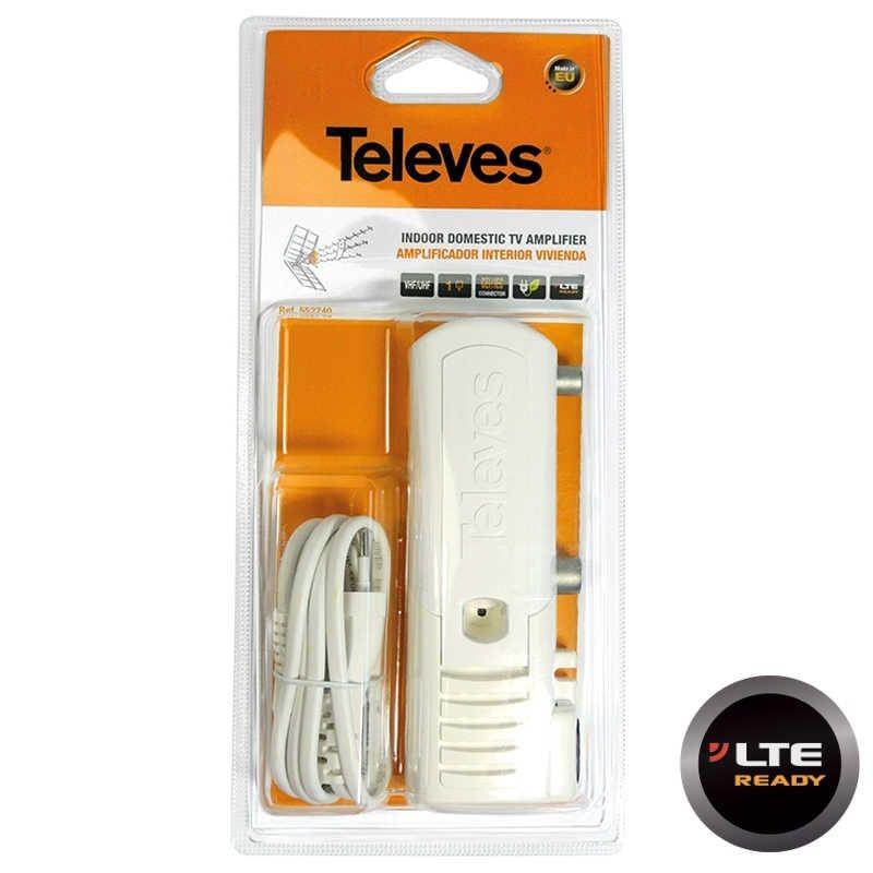 Amplificador tv interior vivienda 1 salida 47-862MHz 25db CEI Televes 5527