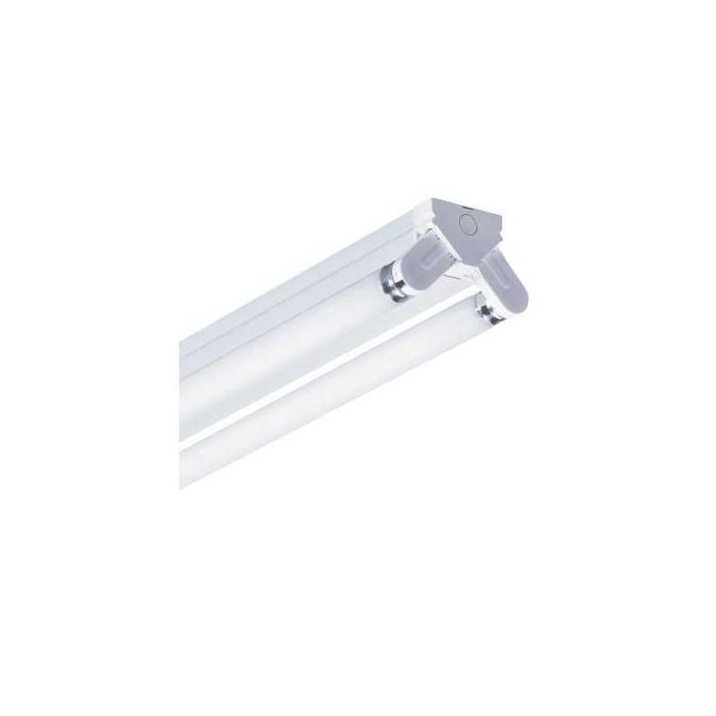 Regleta fluorescente 2x18w con tubos luz dia 18w/865
