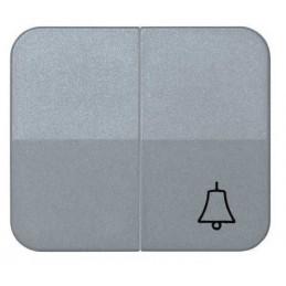 Tecla doble simbolo campana grupo 1 conmutador+1 pulsador gris Serie 75 Simon 75027-35