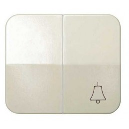 Tecla doble simbolo campana grupo 1 conmutador+1 pulsador marfil Serie 75 Simon 75027-31