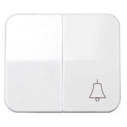 Tecla doble simbolo campana grupo 1 conmutador+1 pulsador blanca Serie 75 Simon 75027-30