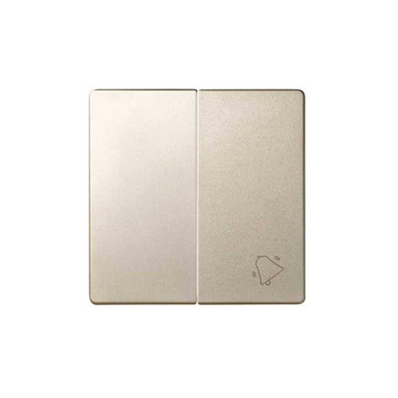Tecla doble simbolo campana grupo 1 conmutador+1 pulsador cava Serie 82 Simon 82027-34