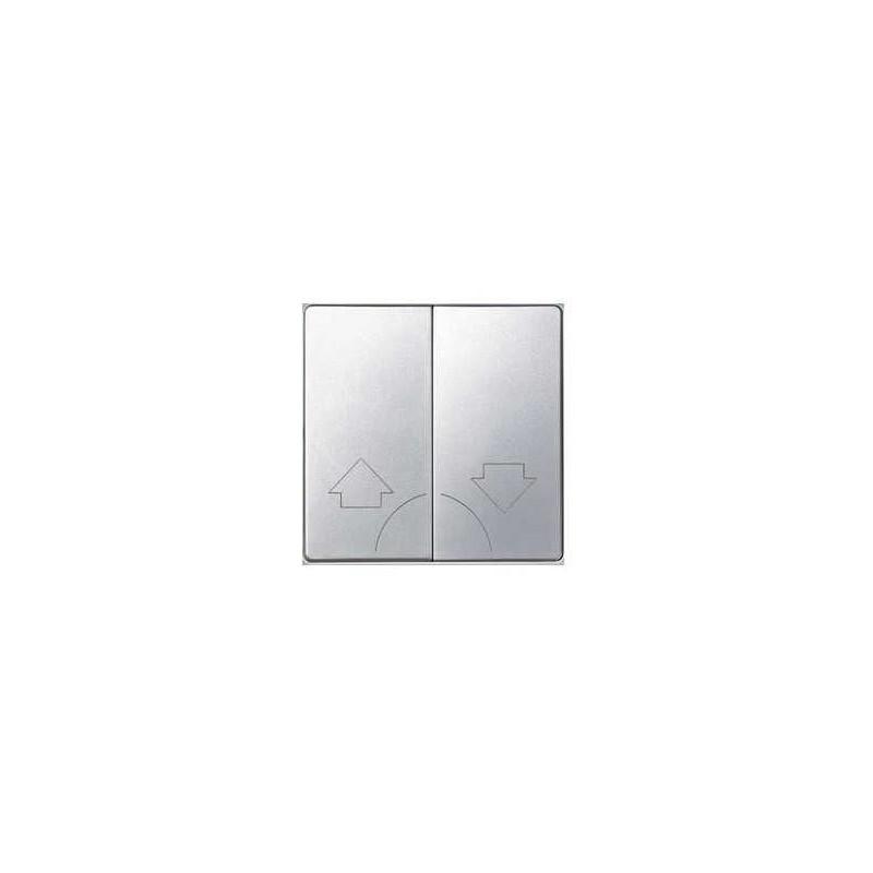 Tecla grupo 2 pulsadores persiana ancha aluminio Serie 82 Simon 82029-33