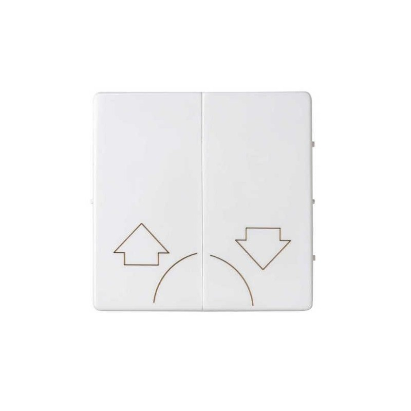 Tecla grupo 2 pulsadores persiana ancha blanca Serie 82 Simon 82029-30