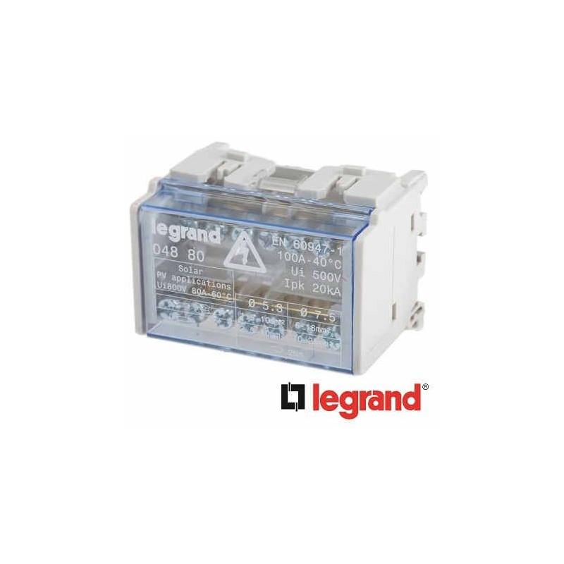 REPARTIDOR RIEL 2P 100A 4 MODULOS  7 CONEXIONES 04880 LEGRAND