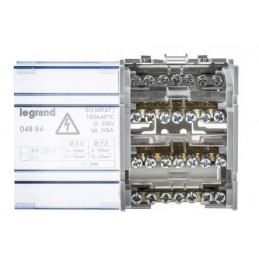 Repartidor riel 4P 100A 4 Modulos 7 Conexiones Legrand 04884