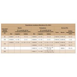 REPARTIDOR RIEL 4P 125A 8 MODULOS 15 CONEXIONES 04888 LEGRAND