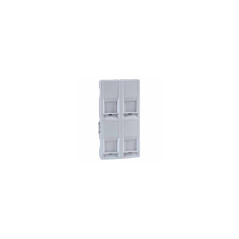 Tapa para 4 conectores RJ45 con ventana blanca Eunea U9.463.18