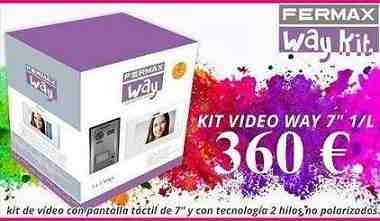 "Videoportero Kit Way-Fi 7"" WI-FI 2 Hilos Color 1 Linea Fermax 1431"